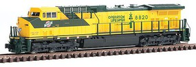 Kato GE AC4400CW w/DCC Chicago & North Western #8820 (yellow, green)