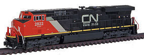 Kato GE ES44AC Canadian National #2822 N Scale Model Train Diesel Locomotive #1768919