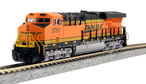 Kato GE ES44AC GEVO - Standard DC BNSF Railway #5751 (orange, black, yellow, Wedge Logo) - N-Scale