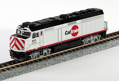 Kato USA Inc EMD F40PH Commuter Version Caltrain #903 -- N Scale Model Train Diesel Locomotive -- #1769003