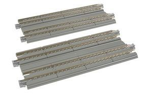 Kato Straight Double Concrete Slab Track - Unitrack N Scale Nickel Silver Model Train Track #20025