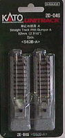 Kato Straight Track w/bumper A 2 7/16'' (2) N Scale Nickel Silver Model Train Track #20046