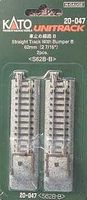 Kato Straight Roadbed Bumper Unitrack Style B N Scale Nickel Silver Model Train Track #20047