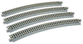 Kato Curved Roadbed Track Section Unitrack 30 Degree N Scale Nickel Silver Model Train Track #20140