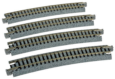 Kato USA Inc Curved Roadbed Track Section - Unitrack -- N Scale Nickel Silver Model Train Track -- #20160