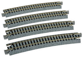 Kato Curved Roadbed Track Section Unitrack N Scale Nickel Silver Model Train Track #20160