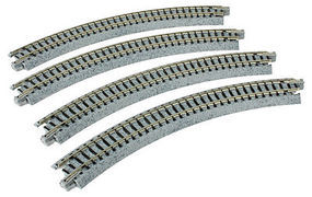 Kato Curved Track R216mm 45 Degree (4) N Scale Nickel Silver Model Train Track #20170