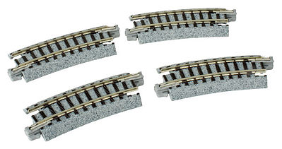 Kato Curved Track - R216mm 15 Degree (4) N Scale Nickel Silver Model Train Track #20171