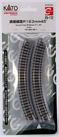 Kato Unitrack Roadbed - 7 18.3cm 45 Degree Curve N Scale Nickel Silver Model Train Track #20172