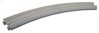 Kato USA Inc Curved Double Concrete Tie Superelevated -- N Scale Nickel Silver Model Train Track -- #20185