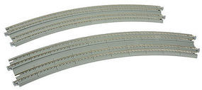 Kato Double Track Superelevated Curve 45-Degrees (2) N Scale Nickel Silver Model Train Track #20187
