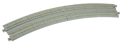 Kato USA Inc 22.5 Degree Double Track Easement Curve -- N Scale Nickel Silver Model Train Track -- #20188