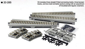 Kato Straight Turntable Extension Track Set Unitrack N Scale Nickel Silver Model Track #20285