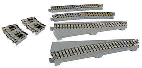 Kato Curved Turntable Extension Track Set - Unitrack N Scale Nickel Silver Model Train Track #20286