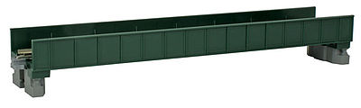 Kato USA Inc Single Plate Girder Bridge - 186mm (7 5/16''), Green -- N Scale Model Railroad Bridge -- #20451