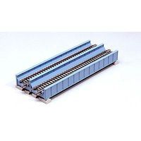 Kato Double-Track Plate Girder Bridge - 7-13/32 (light blue) N Scale Model Railroad Bridge #20455