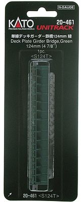 "KATO N Scale Unitrack 124mm 4 7//8/"" Deck Plate Girder Bridge Green 20-461"