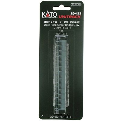 Kato Deck Girder Bridge - 4-31/32 124mm Long (gray) N Scale Model Railroad Bridge #20462