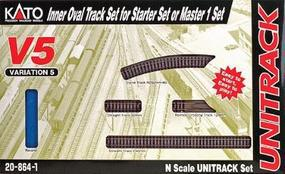 Kato Unitrack V5 - Inside Loop Track Set N Scale Nickel Silver Model Train Track #208641