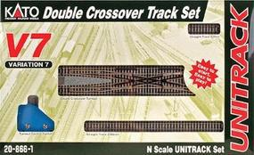 Kato Unitrack V7 Double Crossover Track Set N Scale Nickel Silver Model Train Track #208661