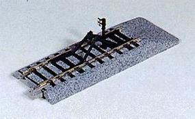 Kato Unitrack - Straight Sections w/Bumpers 4-1/4 HO Scale Nickel Silver Model Train Track #2170