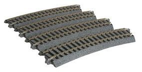 Kato Curved Roadbed Track Section - Unitrack HO Scale Nickel Silver Model Train Track #2280
