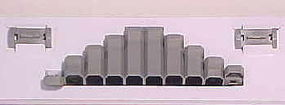 Kato Ad-On Gradual Pier Set - 7/16 - 1-5/8 11-42mm High N Scale Model Railroad Bridge #23016