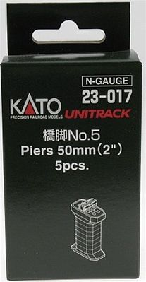 Kato USA Inc Piers w/S Joiner & S-Clip - 2'' 5mm High -- N Scale Model Railroad Bridge -- #23017