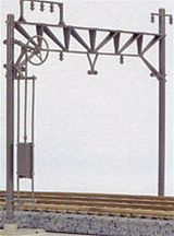 Kato USA Inc Double Track Cantenary Poles & Accy. (10) -- N Scale Model Roalroad Trackside Accessory -- #23061