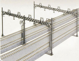Kato Four Track Catenary Poles Straight (10) N Scale Model Railroad Trackside Accessory #23064