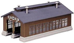 Kato 2-Stall Engine House Kit 7-7/16 x 3-3/8'' 18.6 x 8.4cm Track Centers 1-21/64'' 3.3cm N-Scale