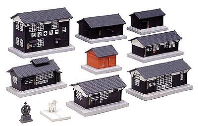 Kato Wood Station Building Set Assembled N Scale Model Railroad Building #23233