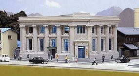 Kato Local Bank - Assembled - 4-7/8 x 6-3/8 x 3 N Scale Model Railroad Building #23458