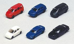 Kato 1990s Toyota Automobile Set - pkg(6) N Scale Model Railroad Vehicle #23505