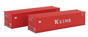 Kato 40 Corrugated Container 2-Pack K-Line pkg(2) - N-Scale