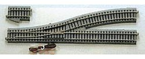 Kato Unitrack Powered Turnout #4 Left Hand 9-3/4 HO Scale Nickel Silver Model Train Track #2850