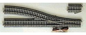 Kato Unitrack Powered Turnout #4 Right Hand 9-3/4 HO Scale Nickel Silver Model Train Track #2851