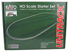 Kato Starter Set GP35 Santa Fe HO Scale Model Train Set #302002
