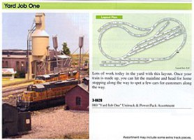 Kato Unitrack & Power Pack Assortment Yard Job One - HO-Scale