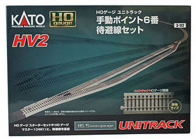 Kato HV2 Pass Siding Track Set HO Scale Nickel Silver Model Train Track #3112