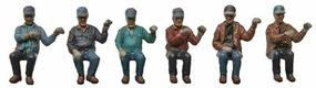 Kato Seated Engine Crew Late 1950s to Present pkg(6) - HO-Scale
