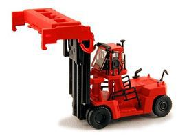 Kato Mobile Container Lift (Handler) - Assembled - Red N Scale Model Railroad Vehicle #31631