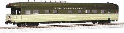 Kato USA Inc Corrugated Business Car Northern Pacific -- HO Scale Model Train Passenger Car -- #356010