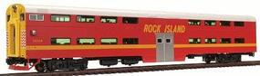 Kato Pullman Bi-Level 4-Window Cab-Coach Rock Island HO Scale Model Train Passenger Car #356024a