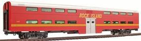 Kato Pullman Bi-Level 4-Window Coach Rock Island #155 HO Scale Model Train Passenger Car #356034