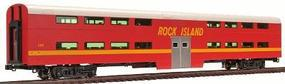 Kato Bi-Level 4-Window Cab/Coach - Rock Island #157 HO Scale Model Train Passenger Car #356034a
