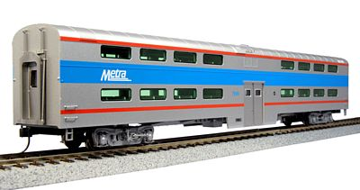 Kato USA Inc Pullman Bi-Level 4-Window Coach Chicago Metra #7848 -- HO Scale Model Train Passenger Car -- #356035