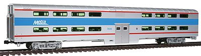 Kato USA Inc Pullman Bi-Level 4-Window Coach Chicago Metra #7836 -- HO Scale Model Train Passenger Car -- #356036