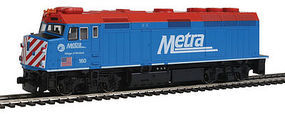 Kato F40PH METRA #160 Winfield HO Scale Model Train Diesel Locomotive #376572