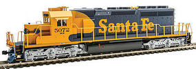 Kato EMD SD40-2 Mid-Production - Standard DC Santa Fe #5072 (Warbonnet, blue, yellow)